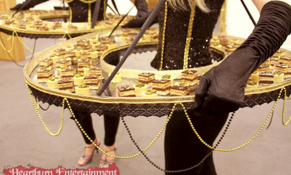 Heartburn entertainment for Human canape trays