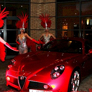 meet and greet showgirls hire uk