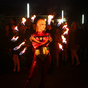 meet and greet fire performer hire