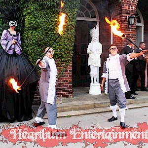 masquerade themed entertainment hire