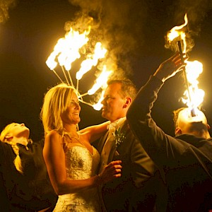 wedding fire performers
