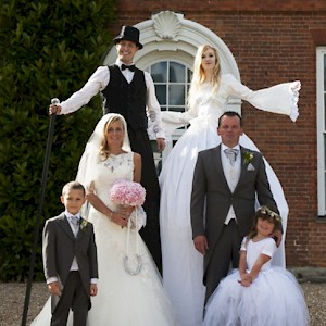 wedding stilt walkers hire uk