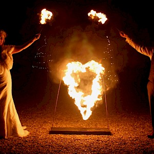 wedding fire show uk