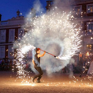 hire wedding fire show uk