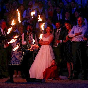 wedding fire eaters uk