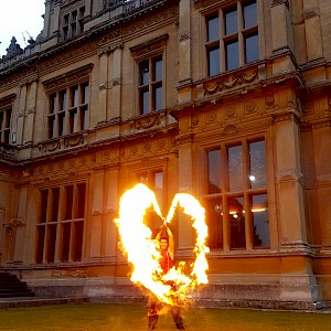 hire wedding fire show