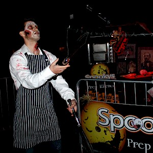 halloween knife juggler hire uk