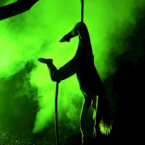 halloween aerial performer uk