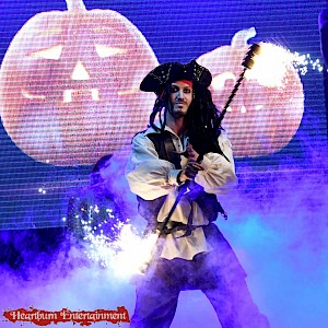 halloween pirate fire performer hire uk