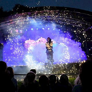 halloween fire show hire uk
