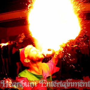 christmas fire performers hire uk