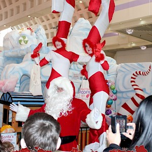 candy cane stilt walkers hire uk