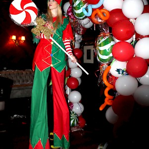 santa's elf stilt walker hire uk