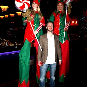 christmas elf stilt walkers hire uk