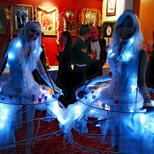LED winter wonderland human canape trays