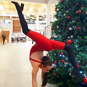 christmas contortionist show hire uk