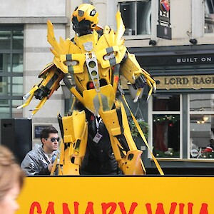 bumblebee from transformers parade