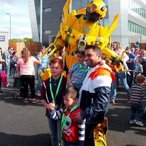 transformers stilt walker uk