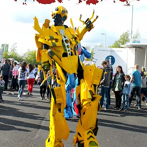 transformers stilt walker robot hire uk