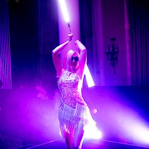 hire LED dancer london