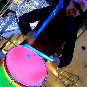 hire LED drummer london