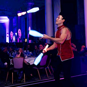 glow juggler hire london