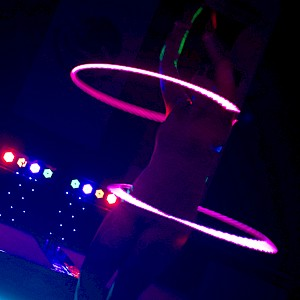 hire LED hula hoop dancer