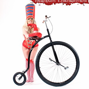 penny farthing rider hire uk