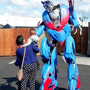 optimus prime transformer hire uk