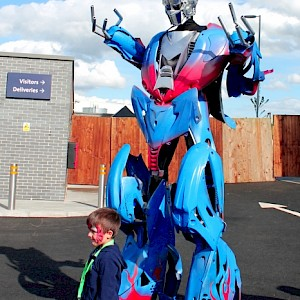 optimus prime robot hire uk