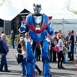 optimus prime transformer robot hire uk