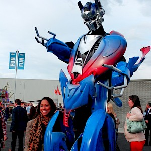 optimus prime from transformers hire uk