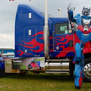 Optimus Prime Transformers robot hire