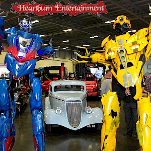 transformers themed robots hire uk