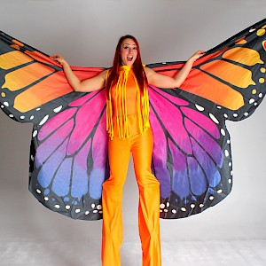 butterfly stilt walkers to hire uk