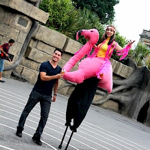 animal stilt walker hire uk