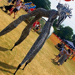 animal stilt walkers
