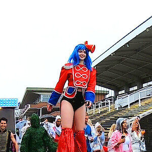 hire circus stilt walker uk