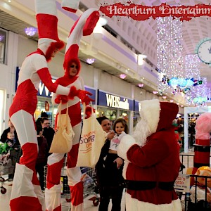 candy cane stilt walkers hire ireland