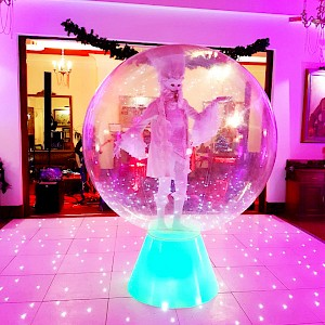 human snowglobe hire uk