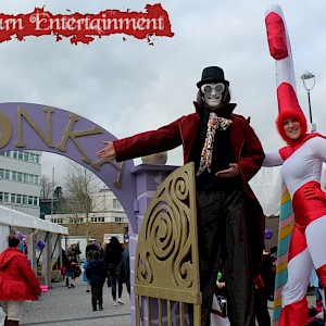 charlie and the chocolate factory stilt walkers france