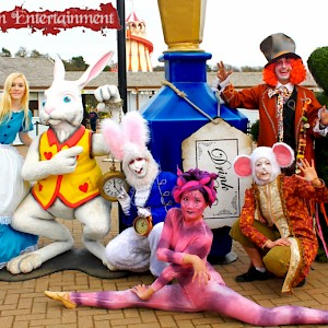 Alice in Wonderland characters for hire