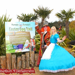 Alice in Wonderland actors fore hire UK events