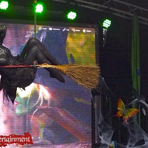 halloween trapeze witch hire uk