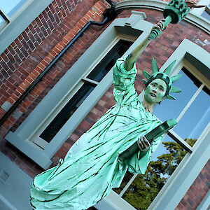 Statue of Liberty human statue hire