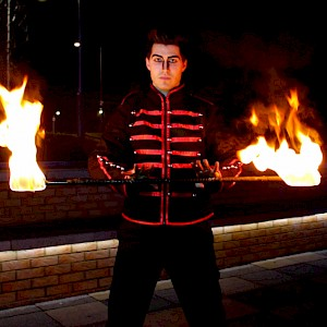 circus fire performer hire uk