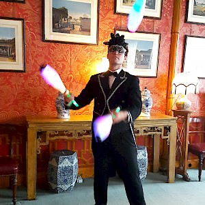 Masquerade juggler hire UK