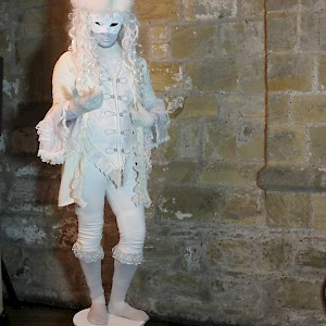 masquerade themed human statue hire uk