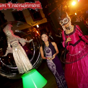 Masquerade themed entertainment