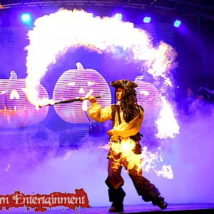 Pirates of the caribbean fire performer hire uk